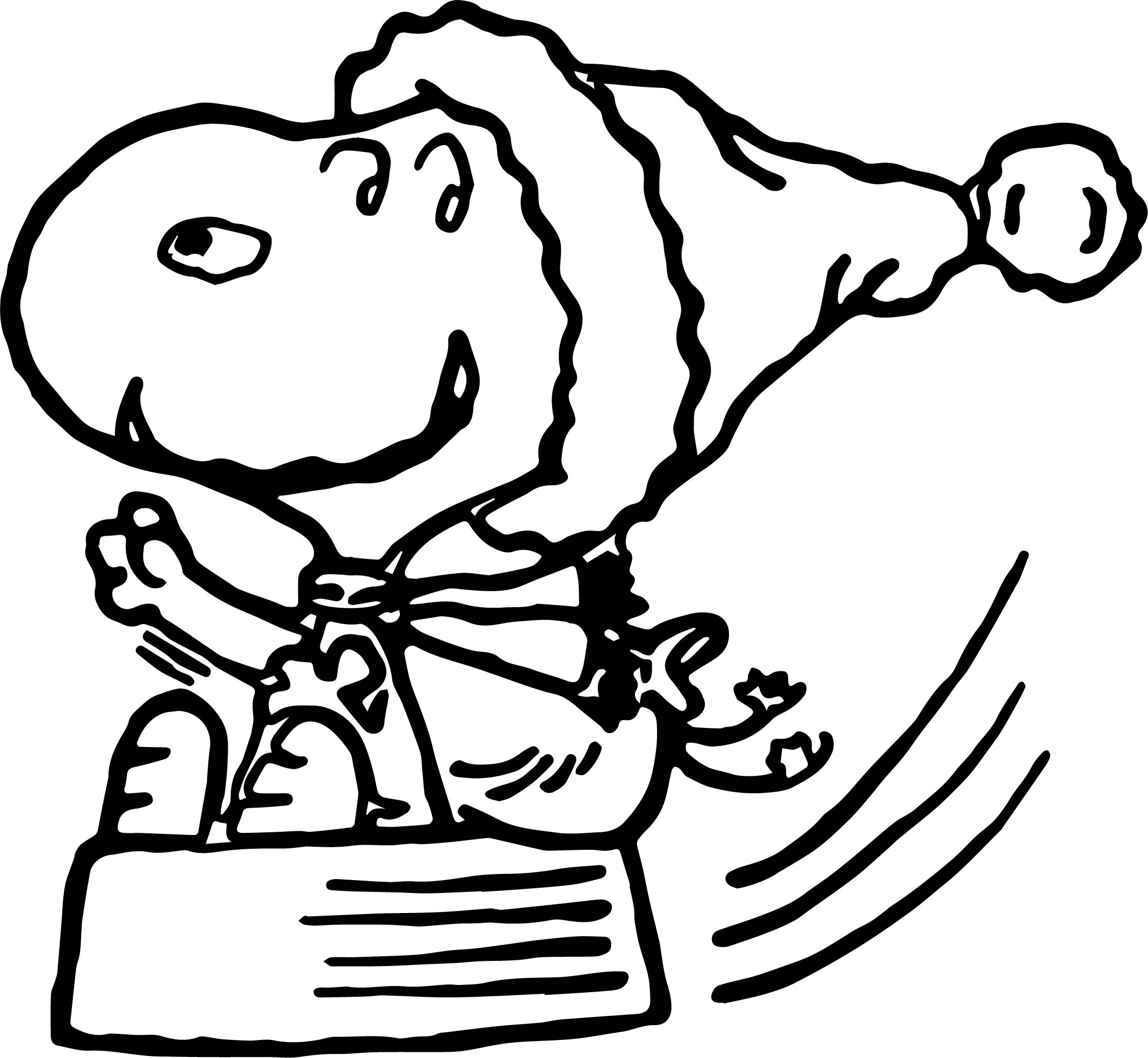 Christmas Koala Coloring Page With Snoopy Wecoloringpage Com