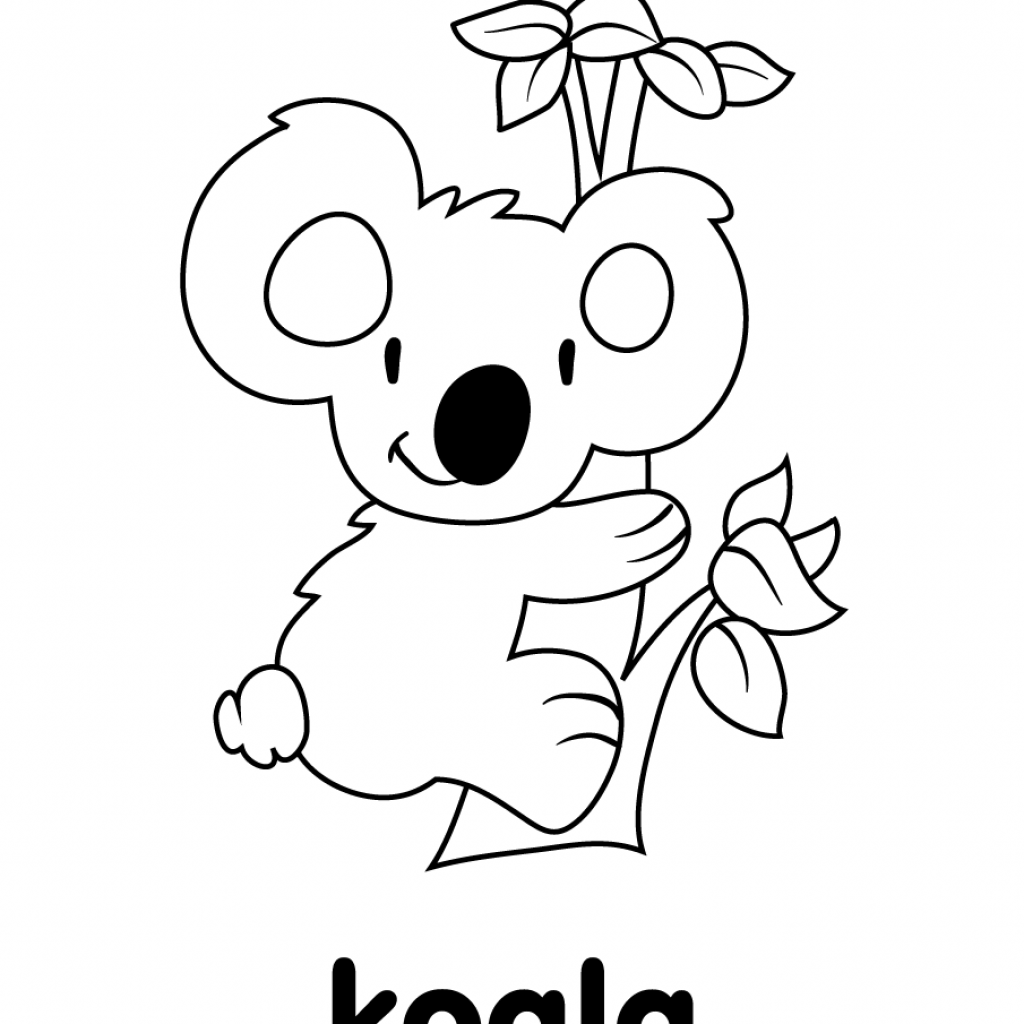 Christmas Koala Coloring Page With Super Simple