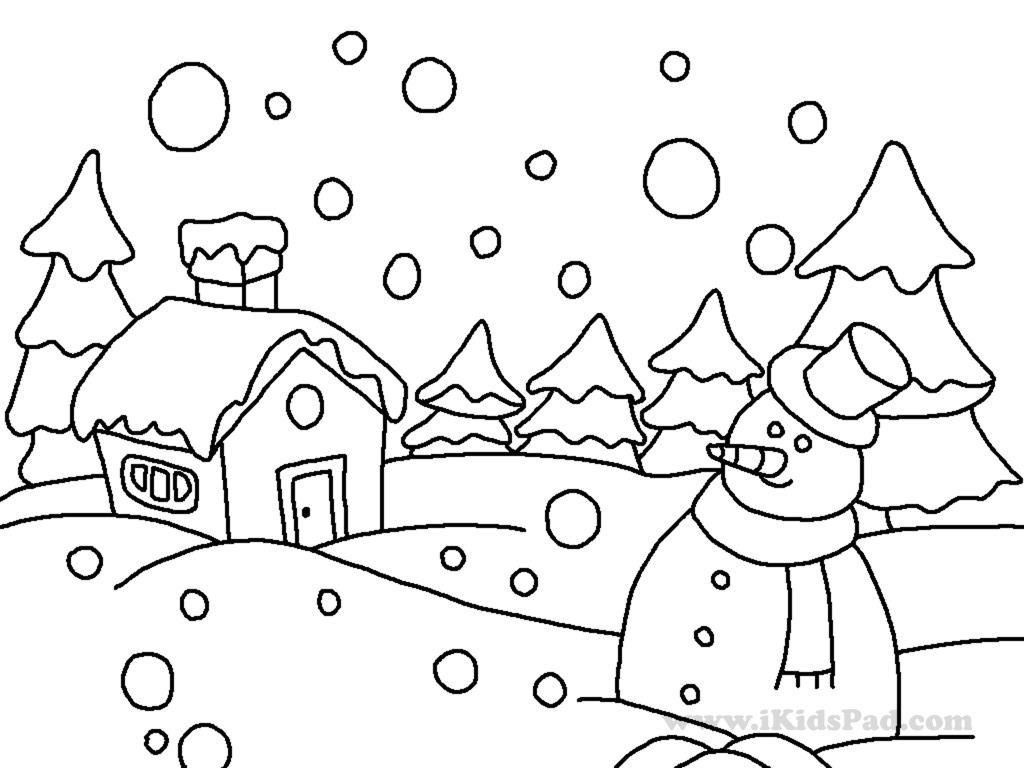 Christmas Landscape Coloring Pages With Winter No Everybody Loves The Season Of