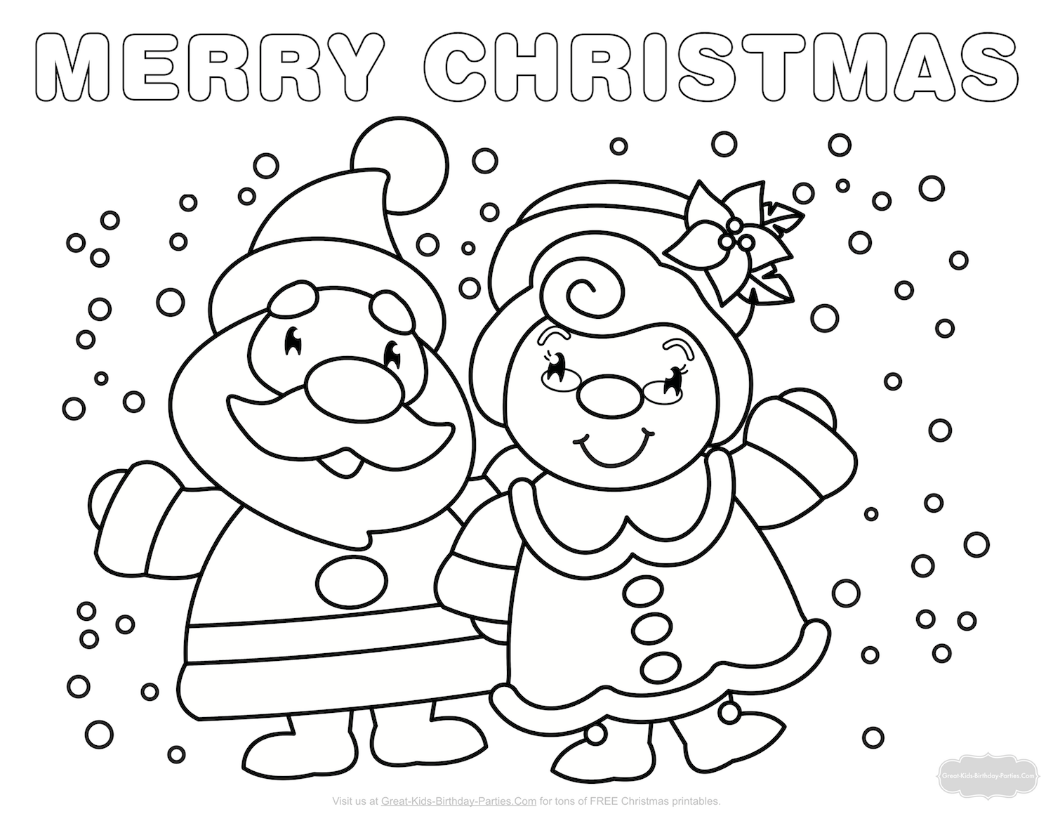 Christmas Landscape Coloring Pages With