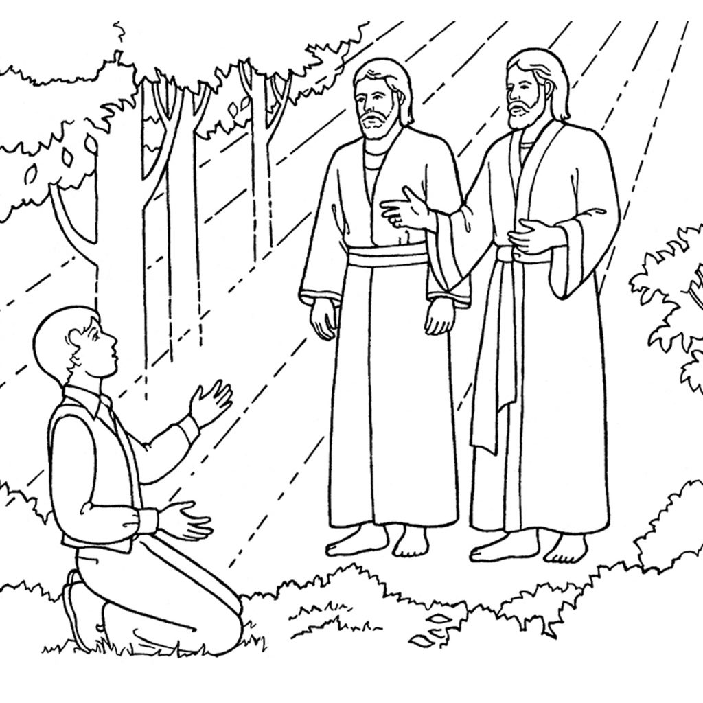 Christmas Lds Coloring Pages With The First Vision Joseph Sees God Father And Jesus Christ
