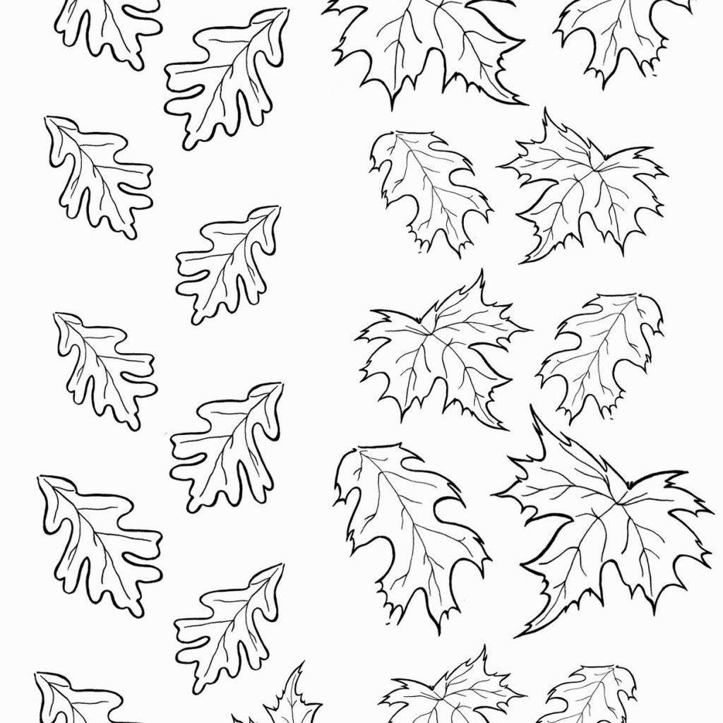 Christmas Leaf Coloring Pages With Leaves Pinterest