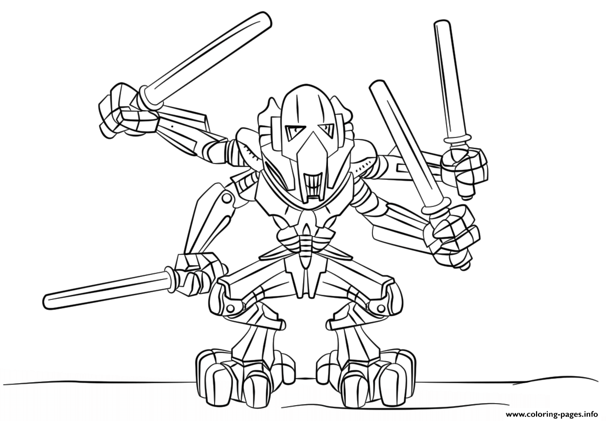 Christmas Lego Coloring Pages With General Grievous Printable