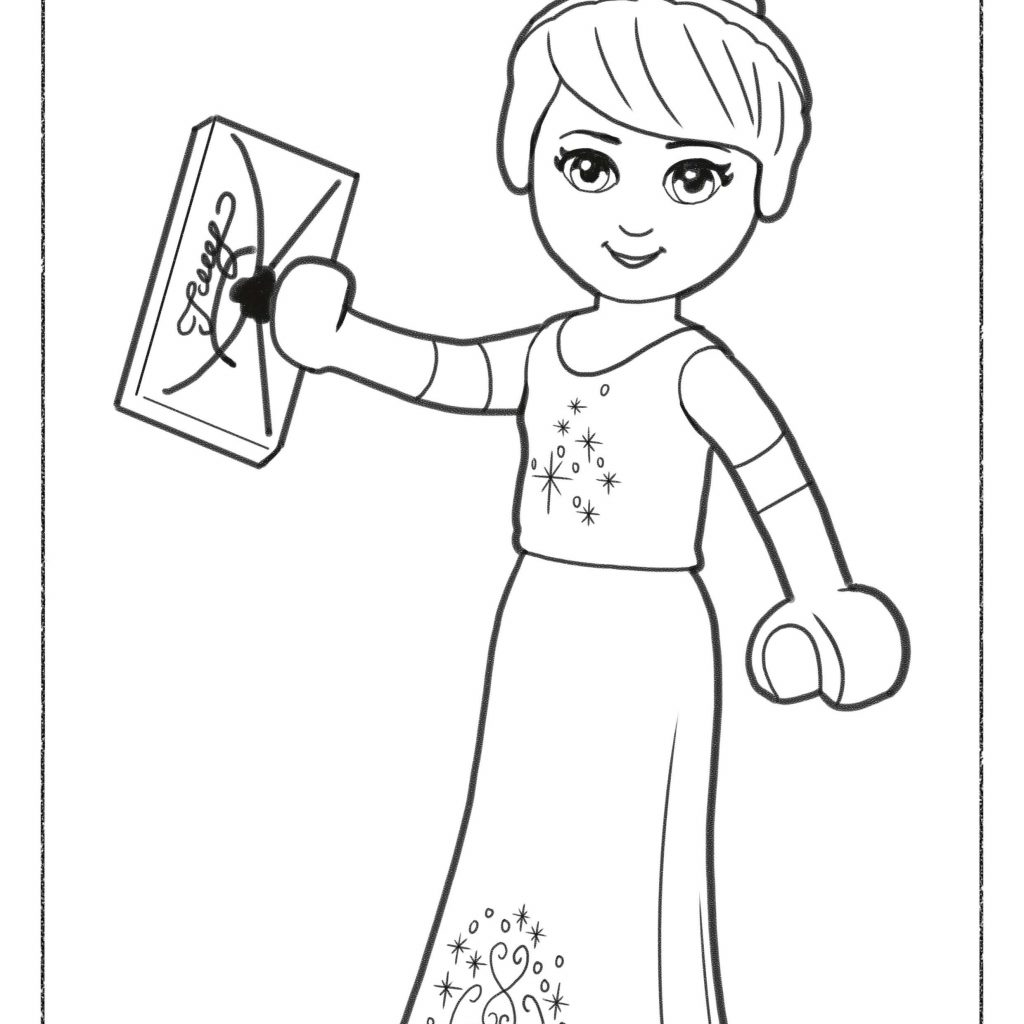 Christmas Lego Coloring Pages With Save Free