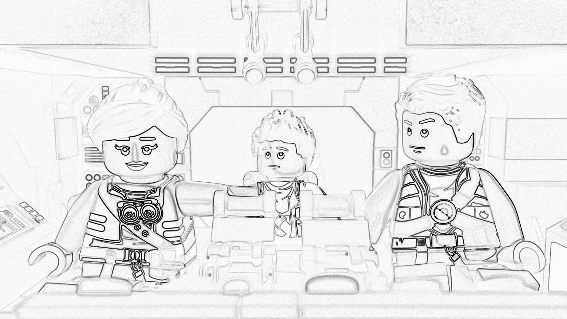 Christmas Lego Coloring Pages With Starwars