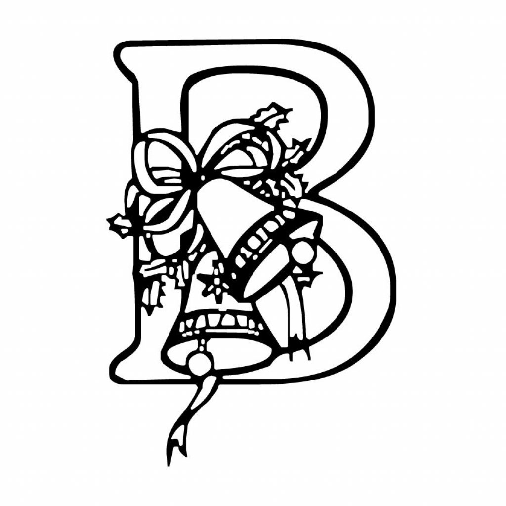 Christmas Letter Coloring Pages With Alphabet B Invitation Logo Pinterest