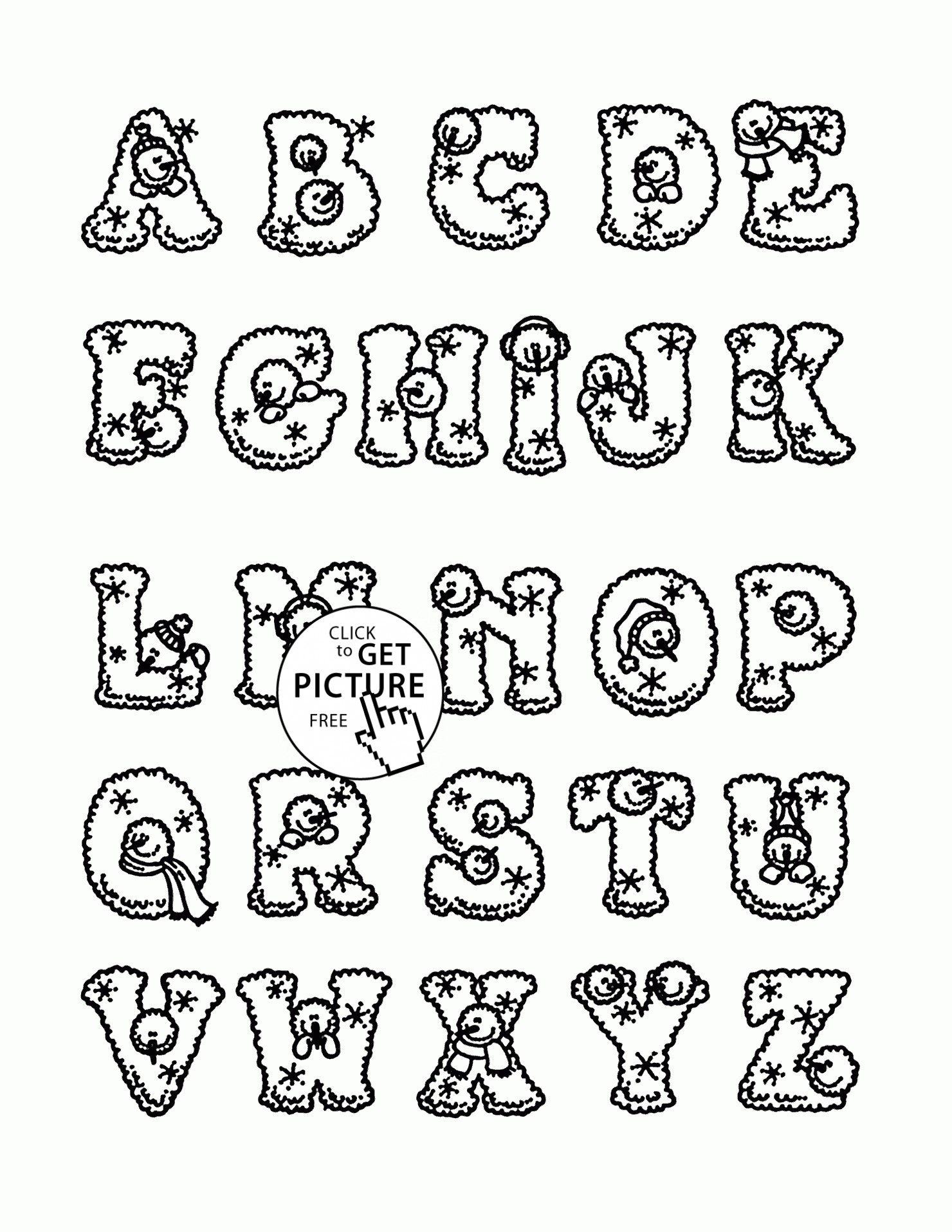 Christmas Letter Coloring Pages With Alphabet Letters Valid Amazing Colouring