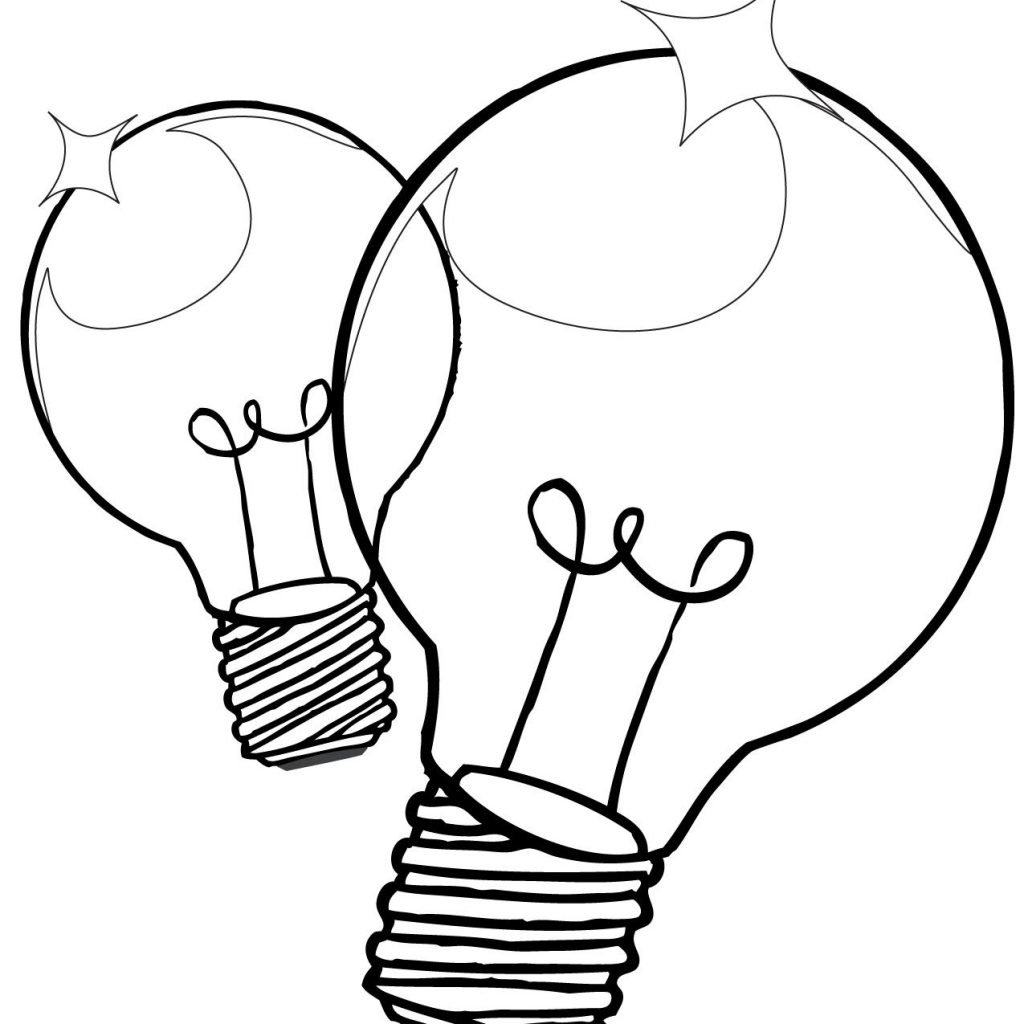 Christmas Light Bulb Coloring Pages Printable With Page