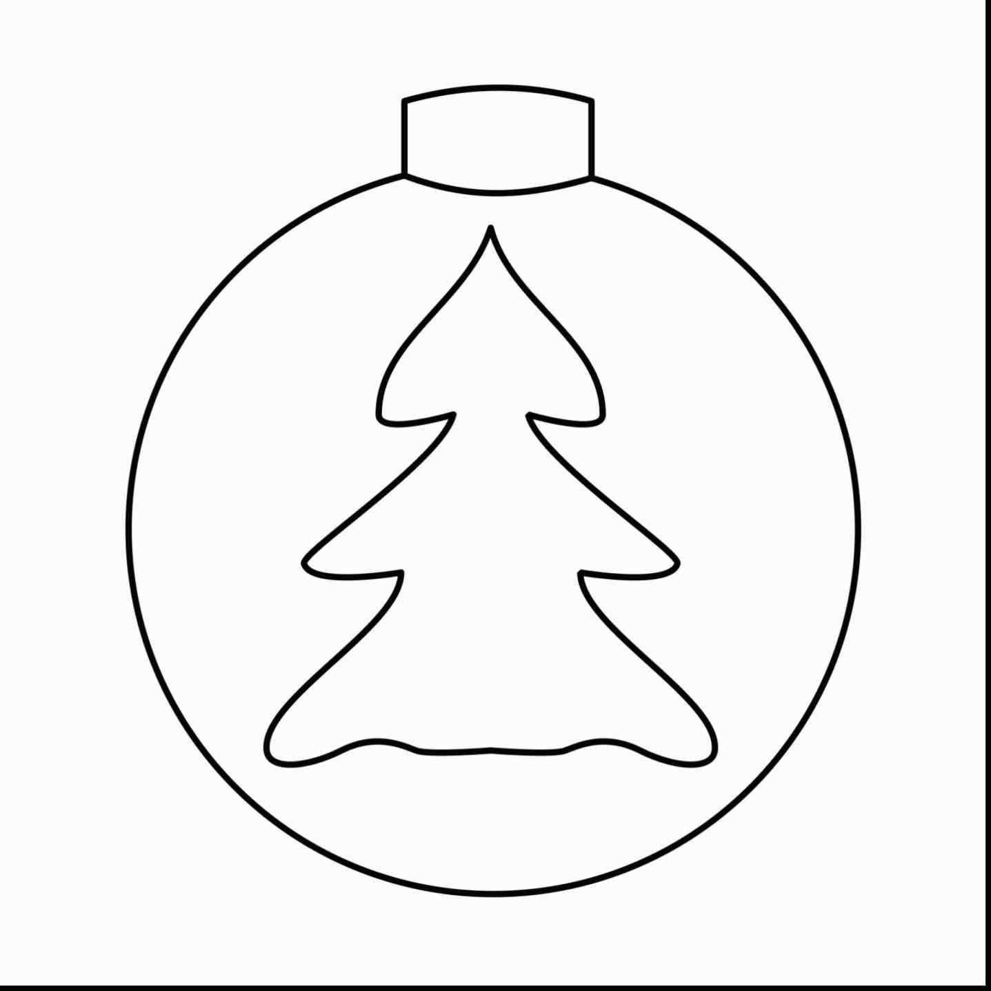 Christmas Light Bulb Coloring Pages With Tree Sheet Refrence New Post