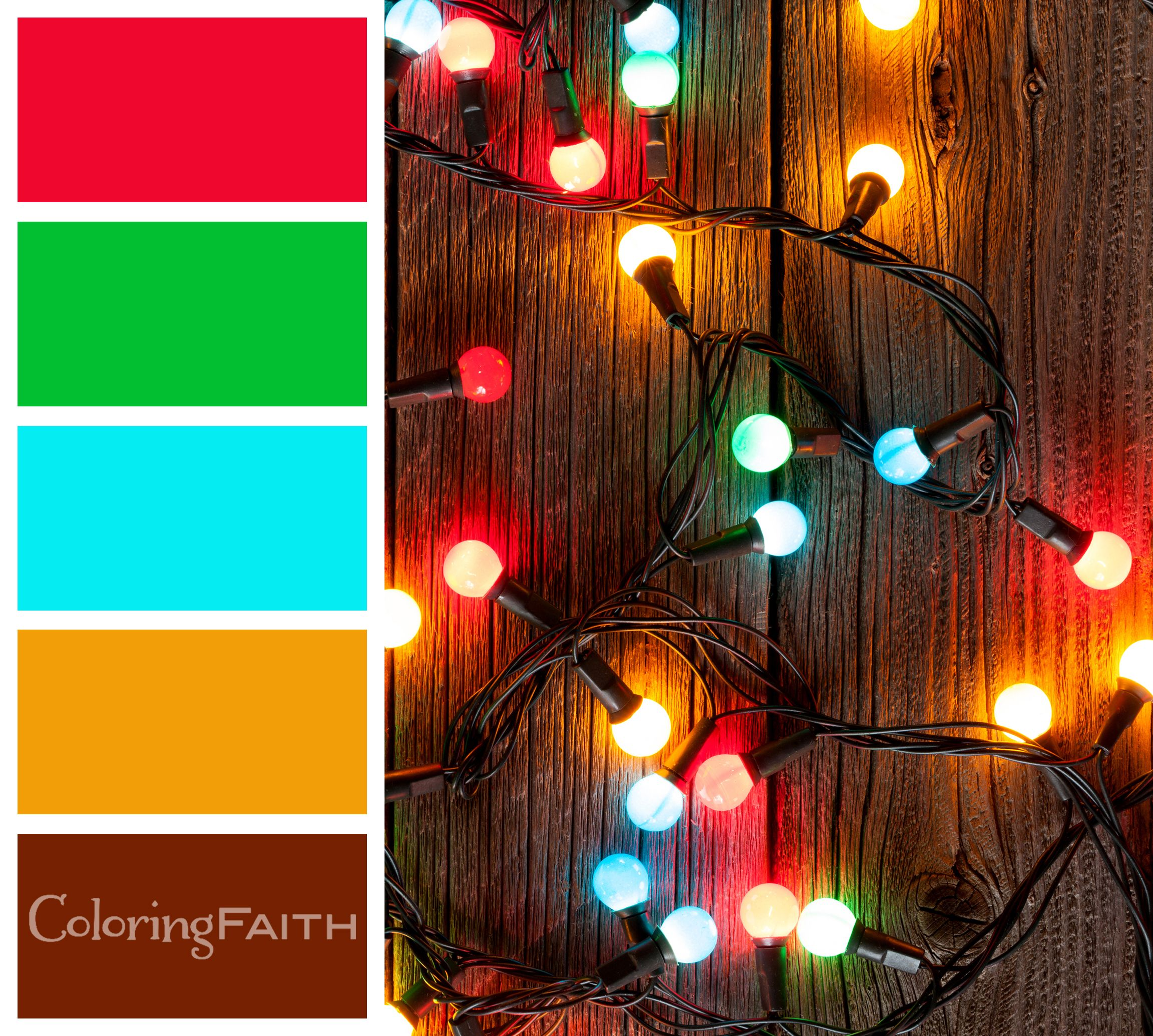 Christmas Light Coloring Pictures With Lights Color Palette 10 Free Adult Book