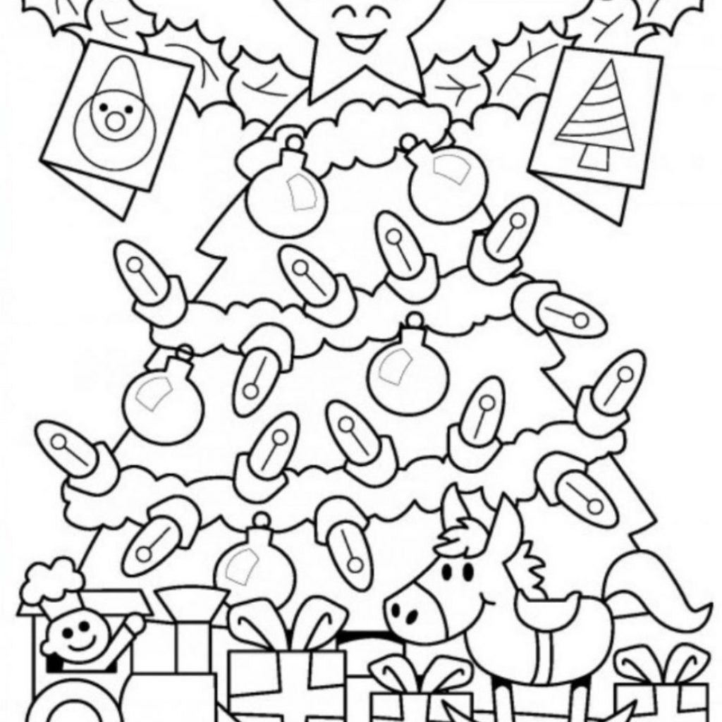 Christmas Light Coloring Pictures With Tree Lights Pages Page