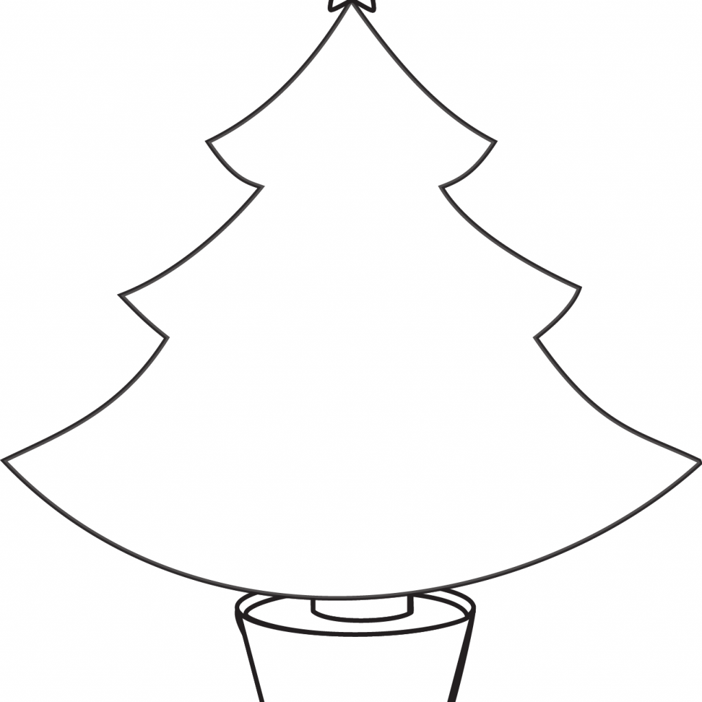Christmas Lights Coloring Pages Print With Free Tree Line Drawing Download Clip Art