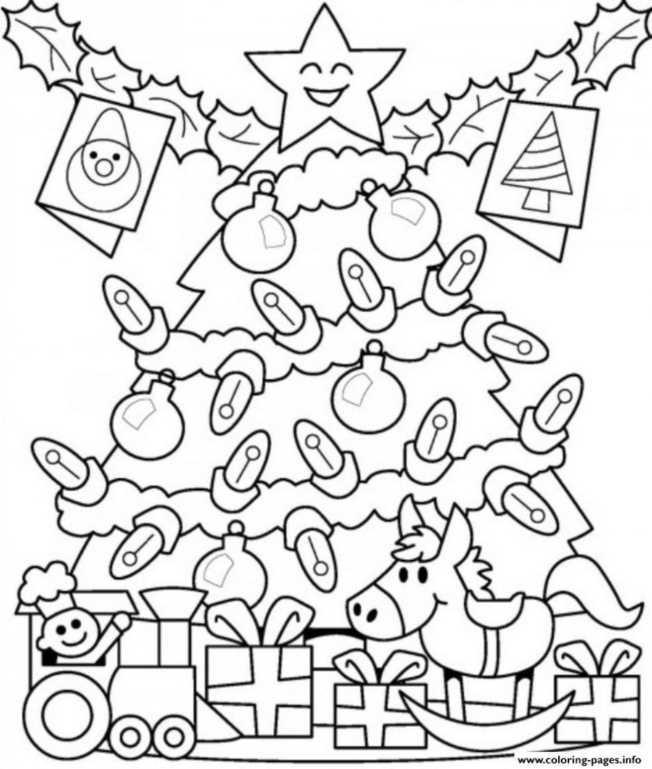 Christmas Lights Coloring Pages Printable With A Garland Page Game Tree