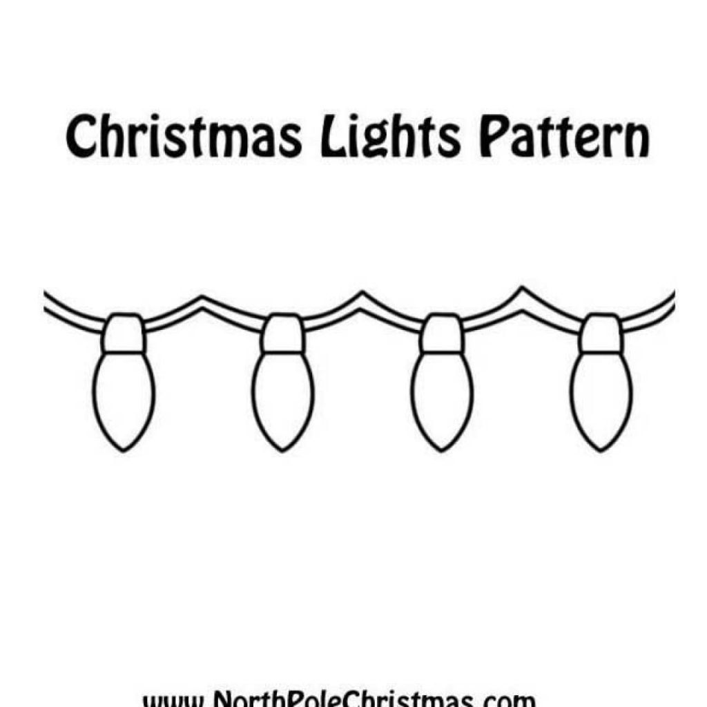 Christmas Lights Coloring Pages With