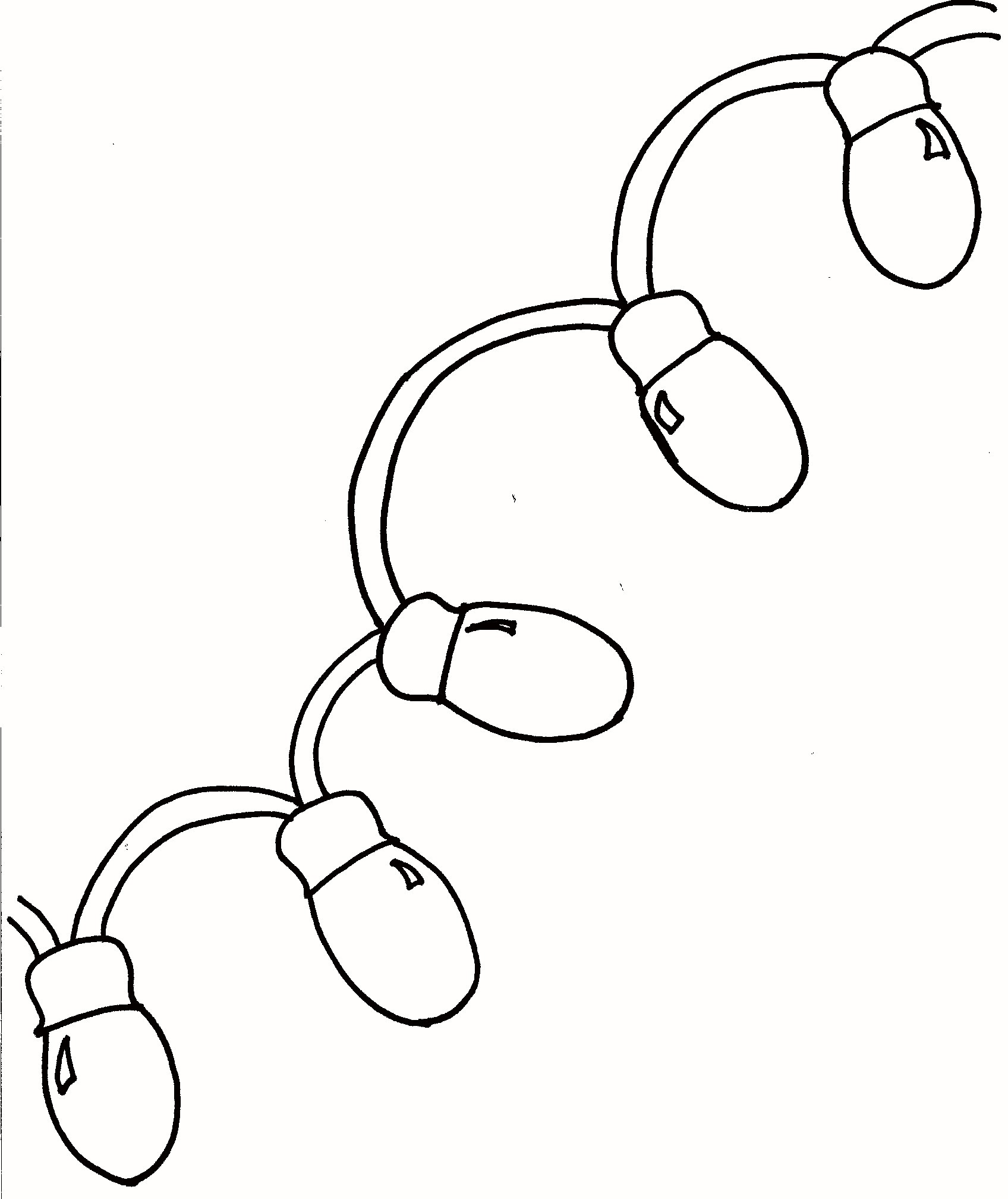 Christmas Lights Coloring Pages With Tree Light Bulb Sheet Fresh