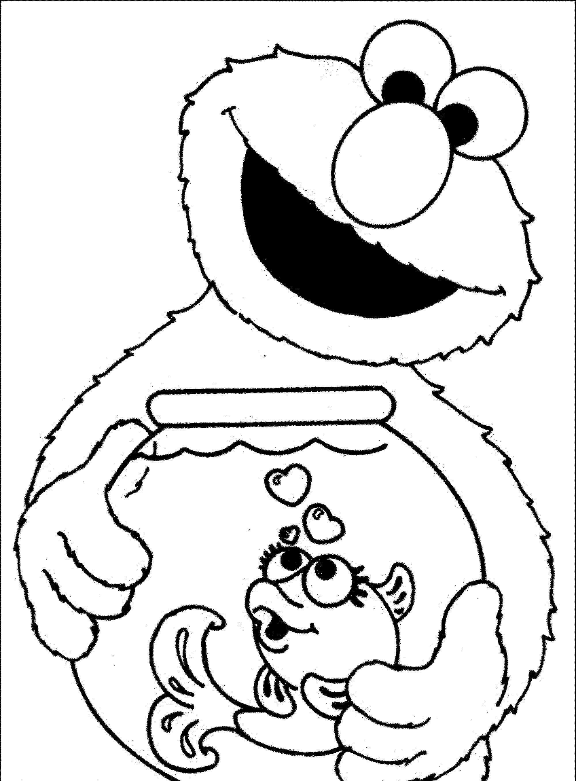 Christmas List Coloring Pages With Elmo Of Line Pict Best