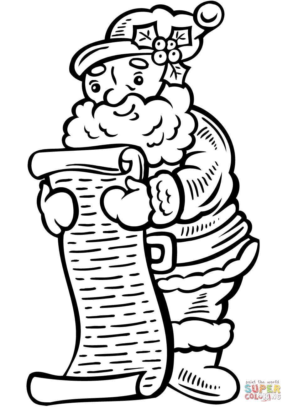 Christmas List Coloring Pages With Page Free Printable