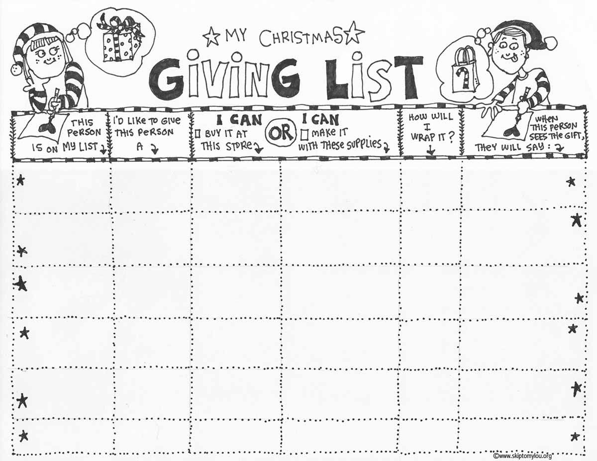 Christmas List Coloring Pages With Page Handmade Gift Ideas Pinterest