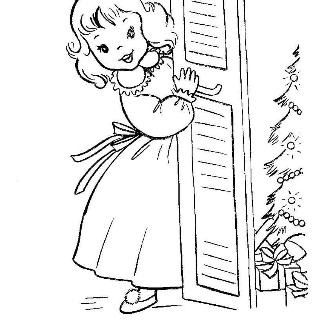 Christmas List Coloring Sheets With Gifts Pages Free