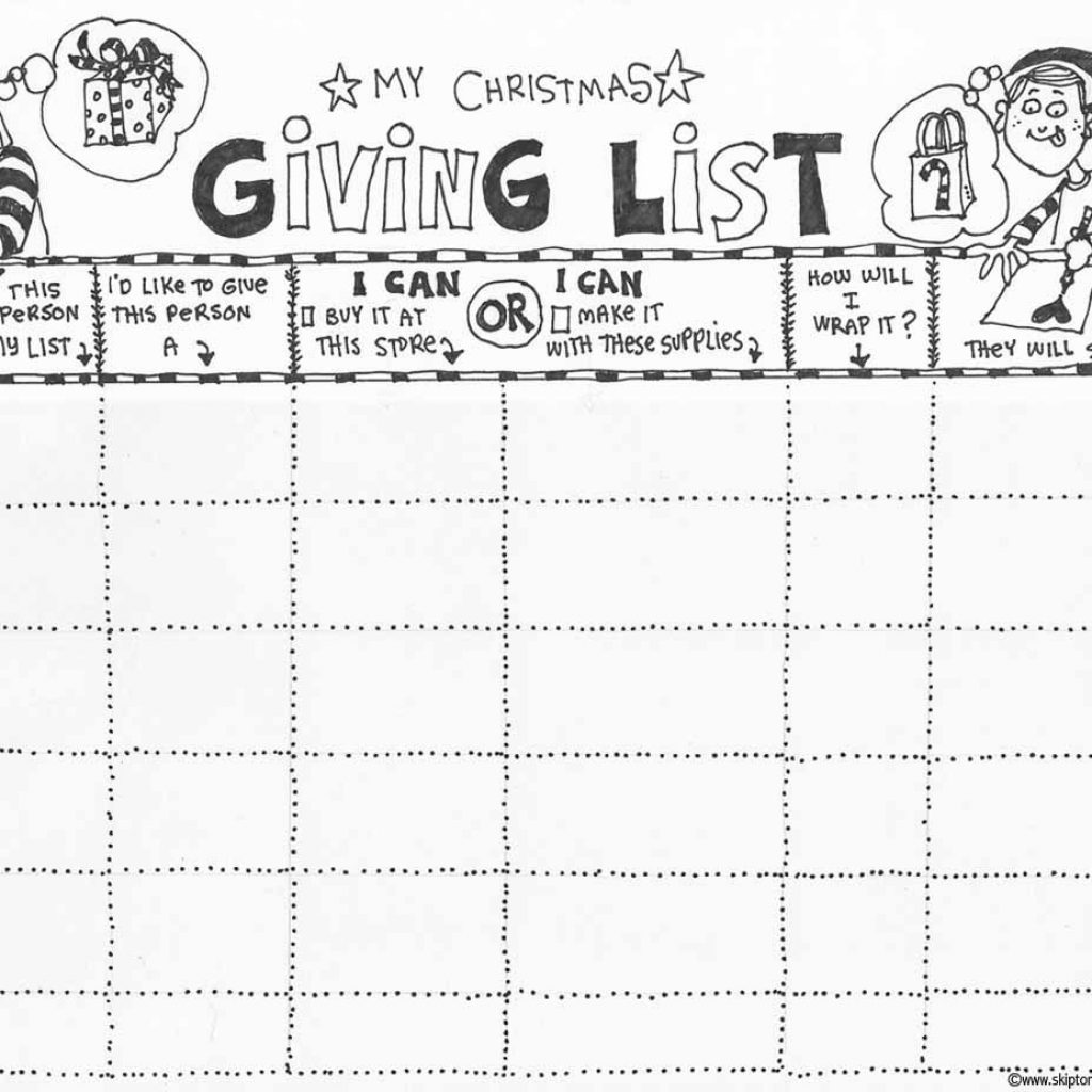 Christmas List Coloring Sheets With Page Handmade Gift Ideas Pinterest