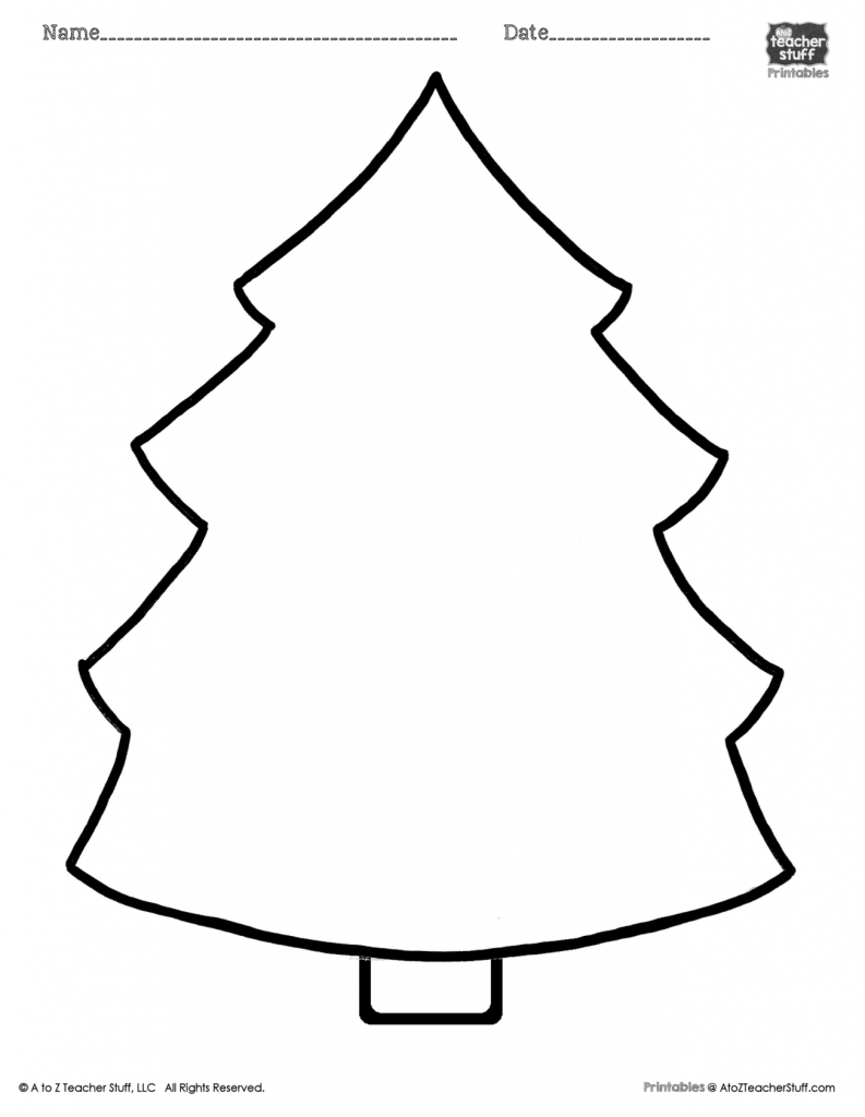 Christmas List Coloring Sheets With Tree Printable Page A To Z Teacher Stuff Pages