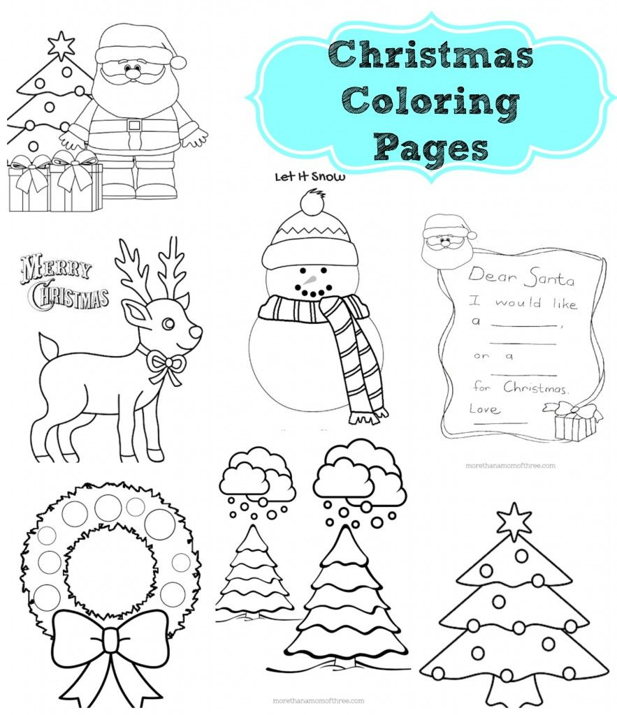 Christmas Love Coloring Pages With Free Kids Printables Colors