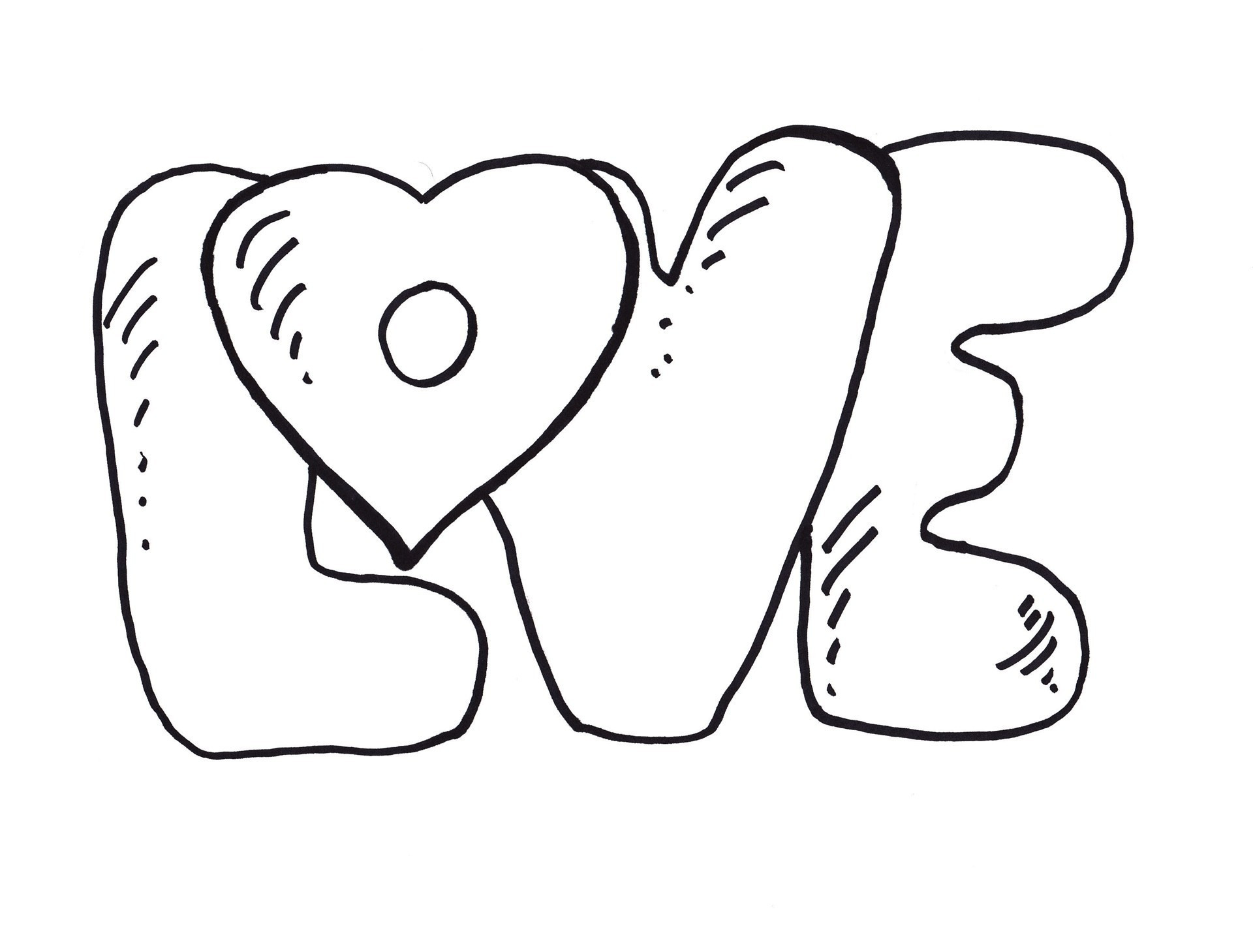 Christmas Love Coloring Pages With New Bow Picturesque Free