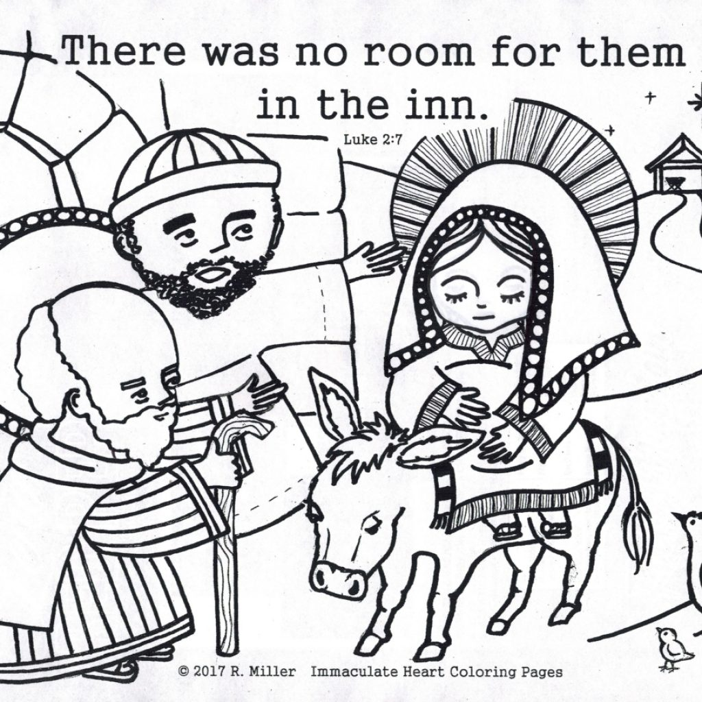 Christmas Love Coloring Pages With No Room At The Inn Immaculate Heart