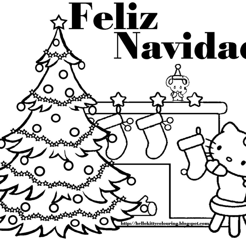 Christmas Love Coloring Pages With This Feliz Navidad Hello Kitty Page And Hundreds Of