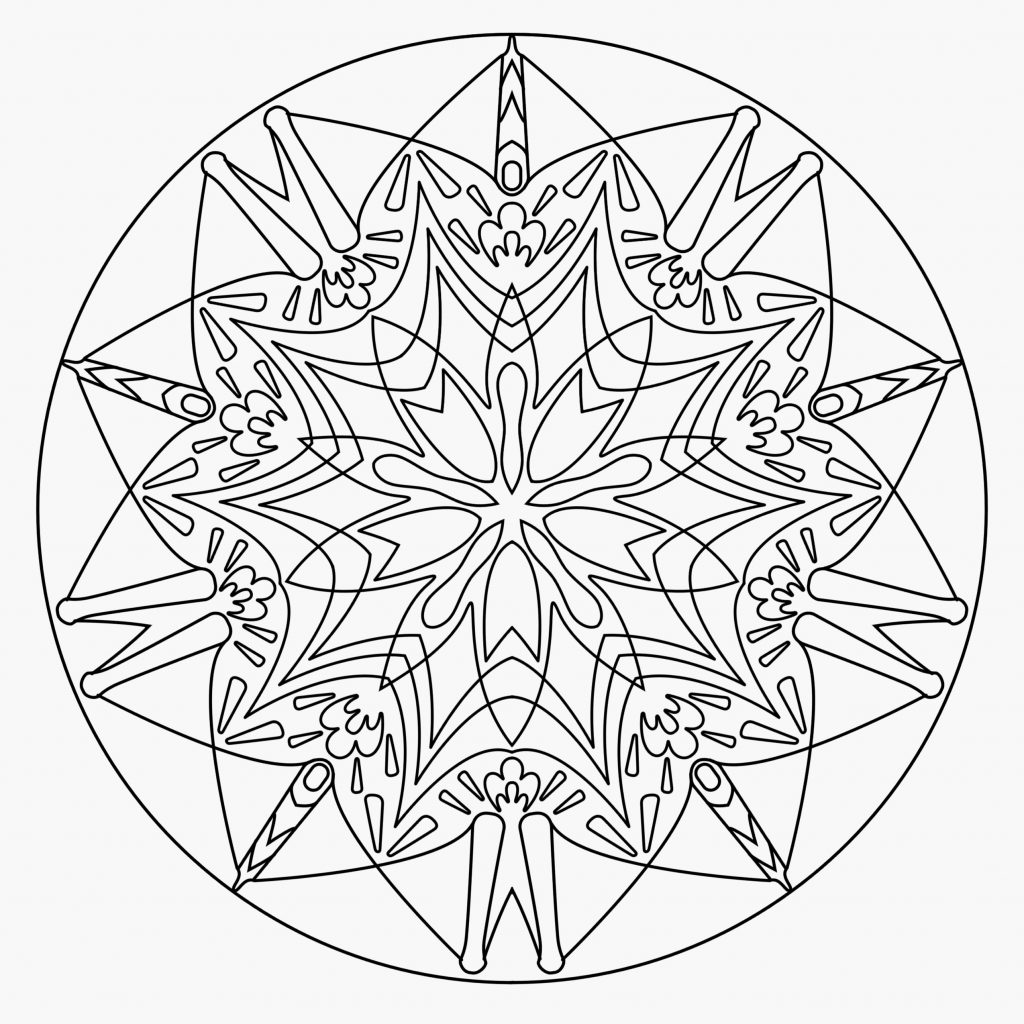 Christmas Mandala Coloring Pages With Adult Pinterest 55 Expensive