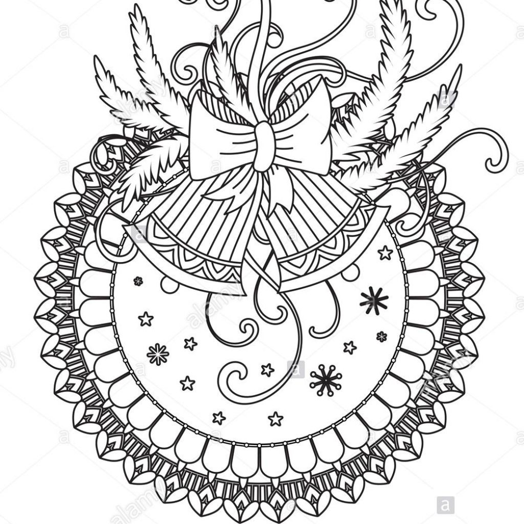 Christmas Mandala Coloring Pages With Page Adult Book Holiday Decor