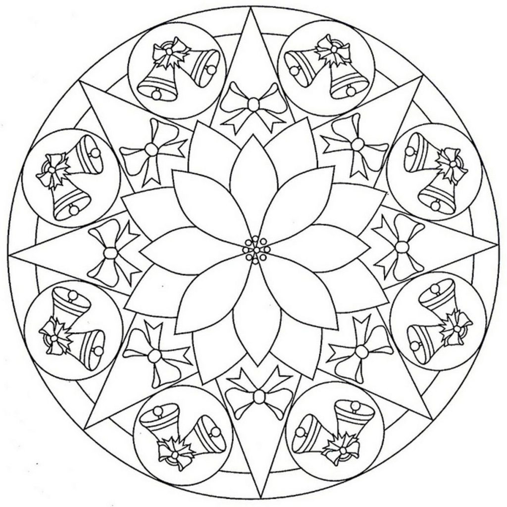 Christmas Mandala Coloring Pages With Pin By Lynn Barnett On Pinterest Free Paper