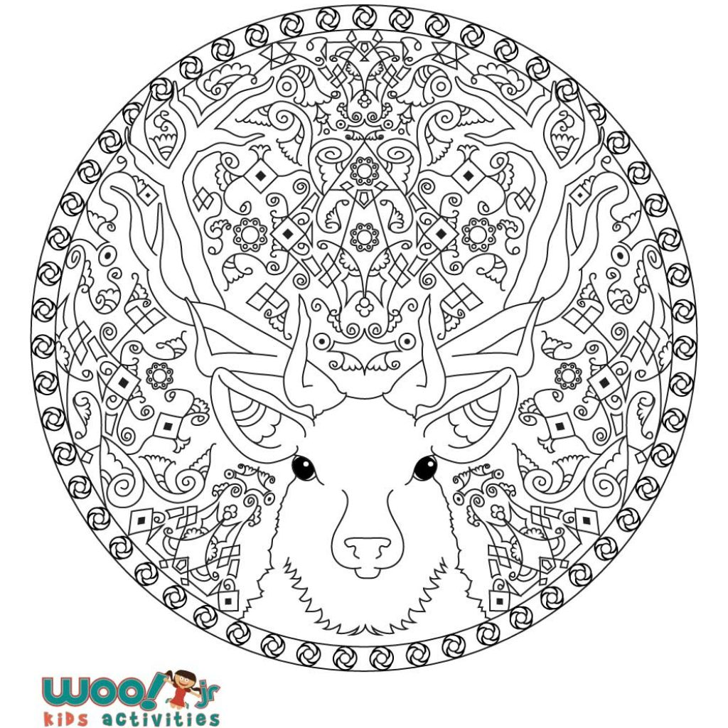 Christmas Mandalas Coloring Book With