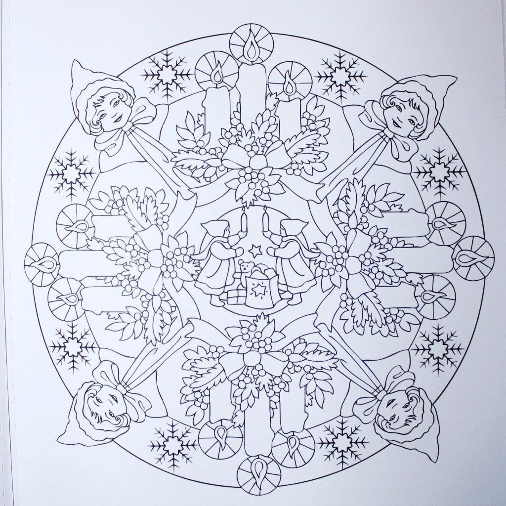 Christmas Mandalas Coloring Book With Creative Haven