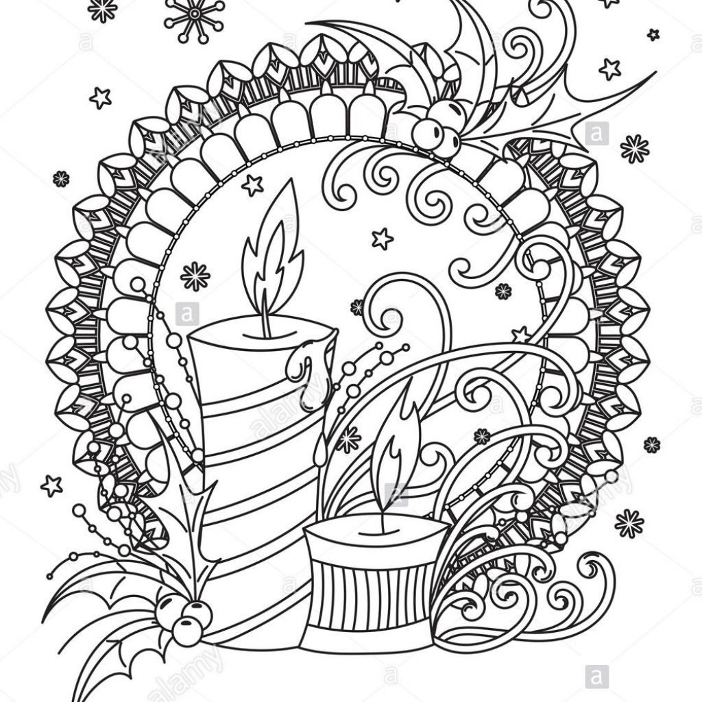 Christmas Mandalas Coloring Book With Mandala Page Adult Holiday Decor