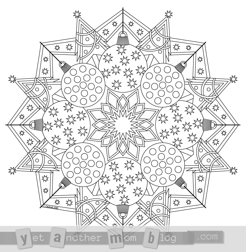 Christmas Mandalas Coloring Book With Mandala Page Free PDF Download