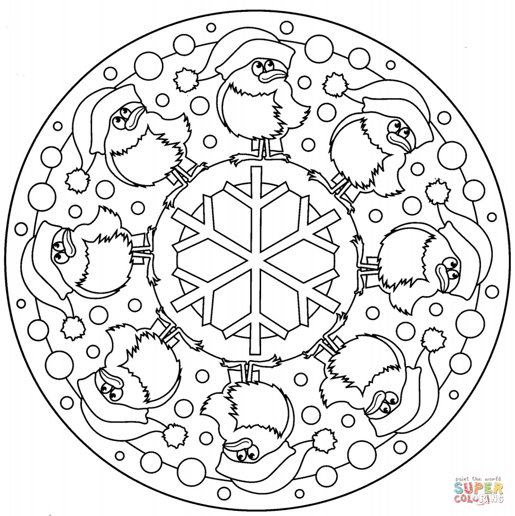 Christmas Mandalas Coloring Book With Mandala Pages Printable