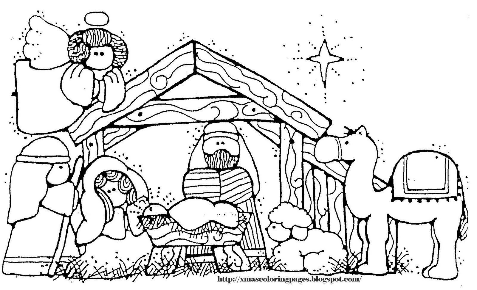 Christmas Manger Coloring Pages With Inspirational Jesus In A Page Kids