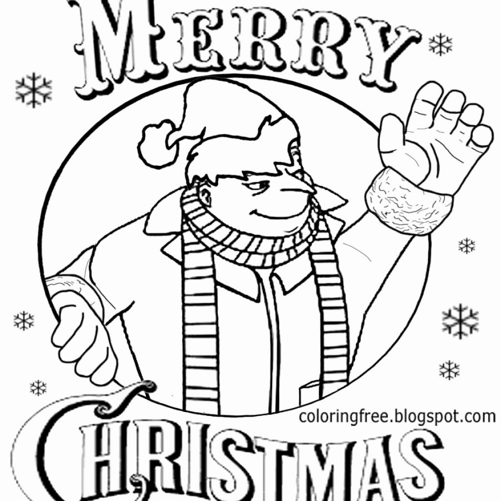 Christmas Minion Coloring Pages With Kevin Page Beautiful