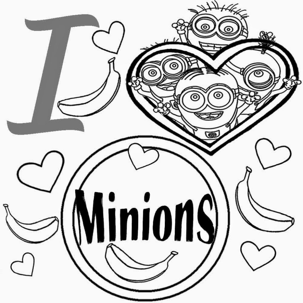 Christmas Minion Coloring Pages With Print Minions On Film Kids