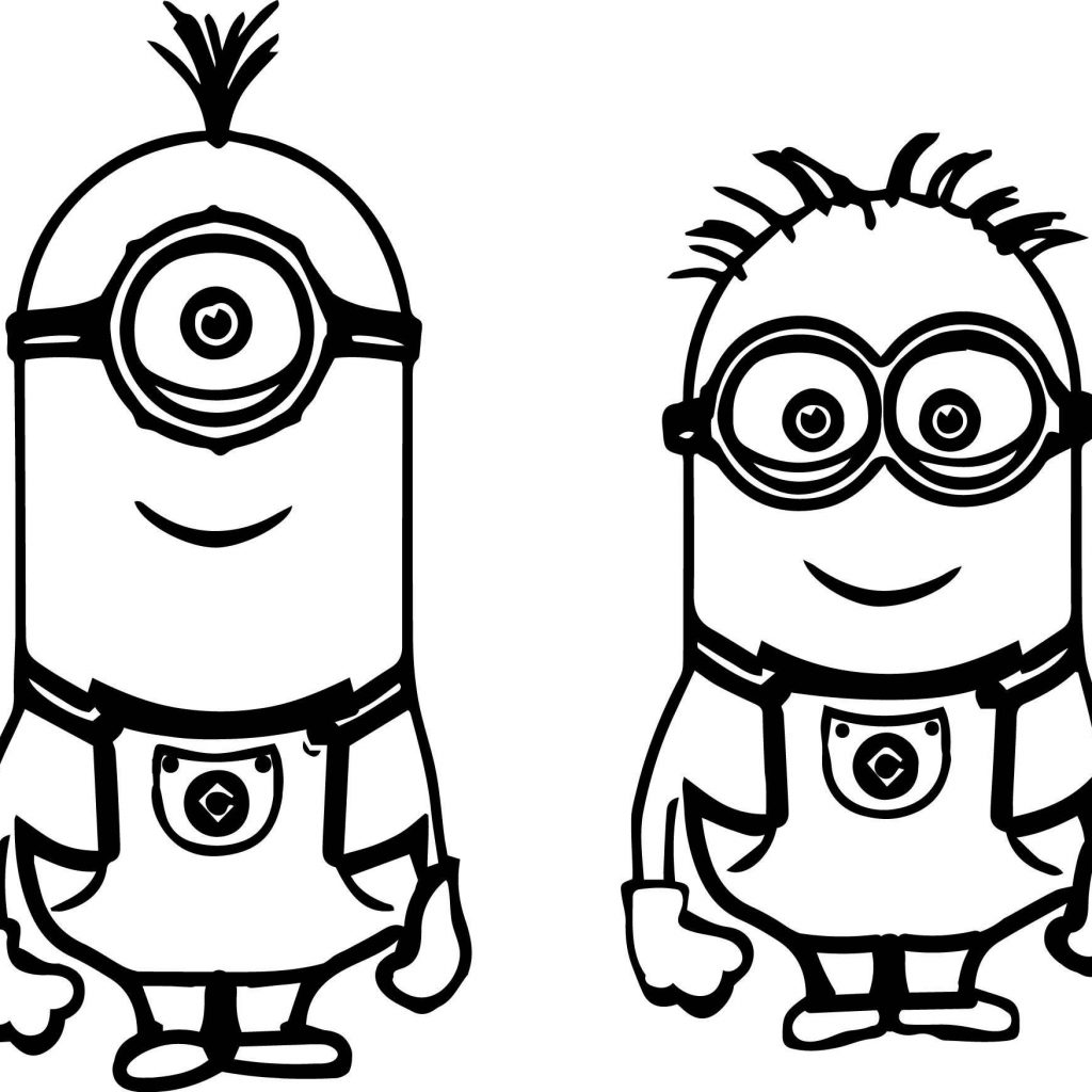 Christmas Minion Coloring Pages With To Print Fresh