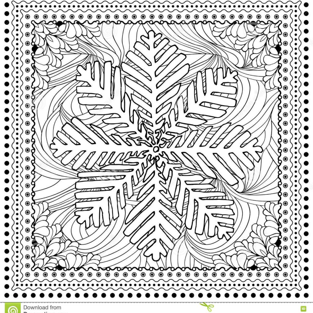 Christmas Mosaic Coloring Pages With Black Vector Mono Color Illustration For Merry Stock