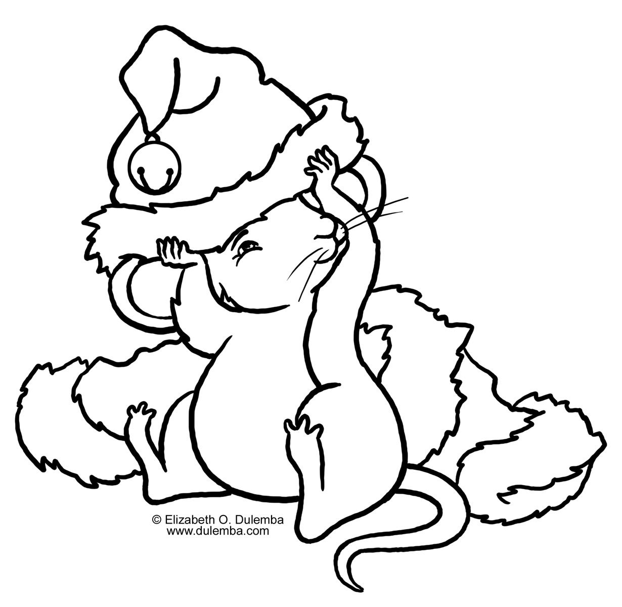 Christmas Mouse Coloring Pages With Google Search Desenhos Para