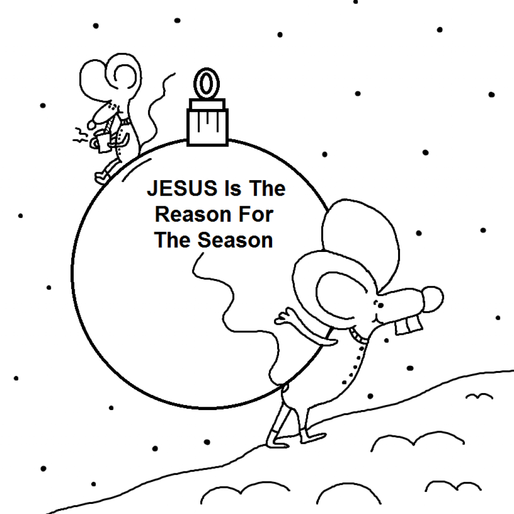 Christmas Mouse Coloring Pages With Jesus Is The Reason For Season Page
