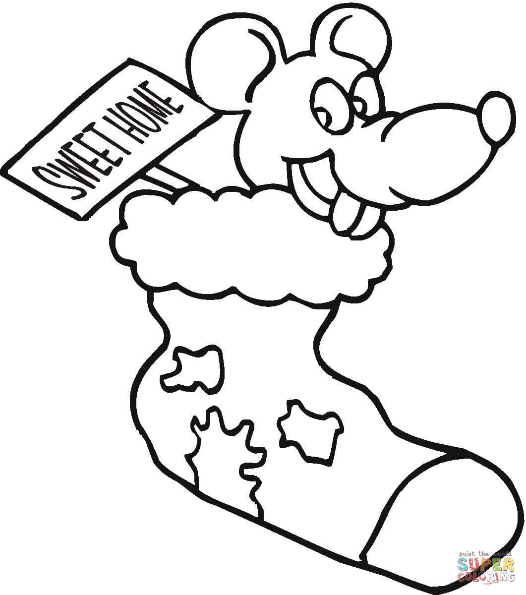 Christmas Mouse Coloring Pages With Page Free Printable