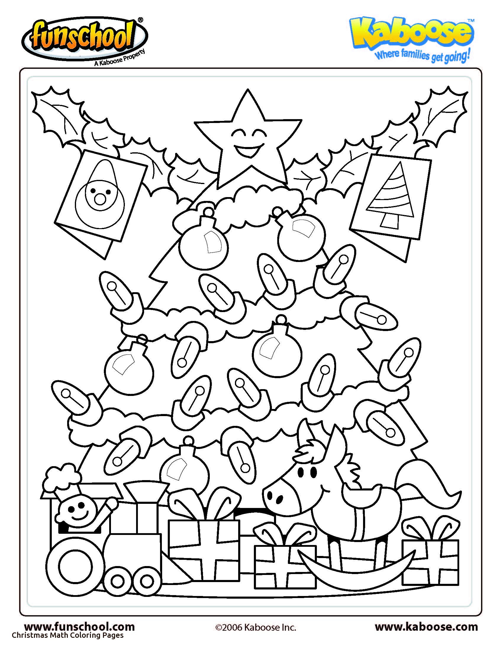 Christmas Multiplication Coloring Worksheets With Color By