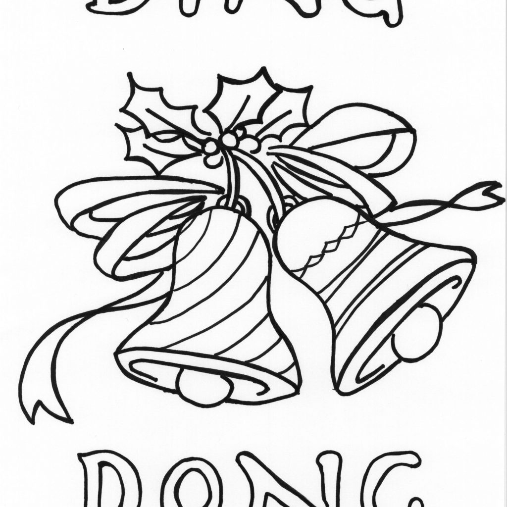 Christmas Music Coloring Pages With Bells Printable Free Books