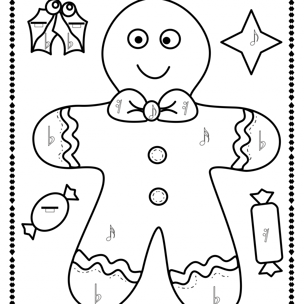Christmas Music Coloring Pages With Simple And Fun Activity For Kids This Set