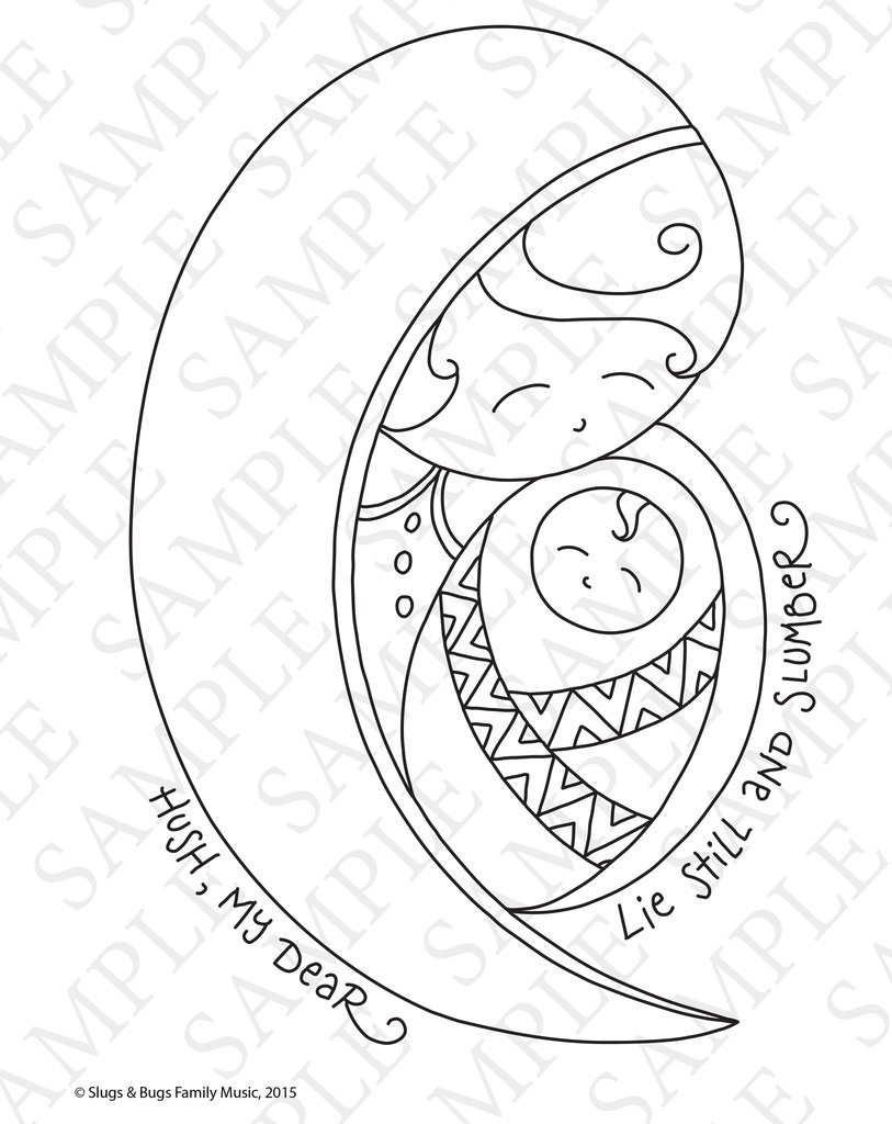 Christmas Music Coloring Pages With Slugs Bugs The Rabbit Room Store