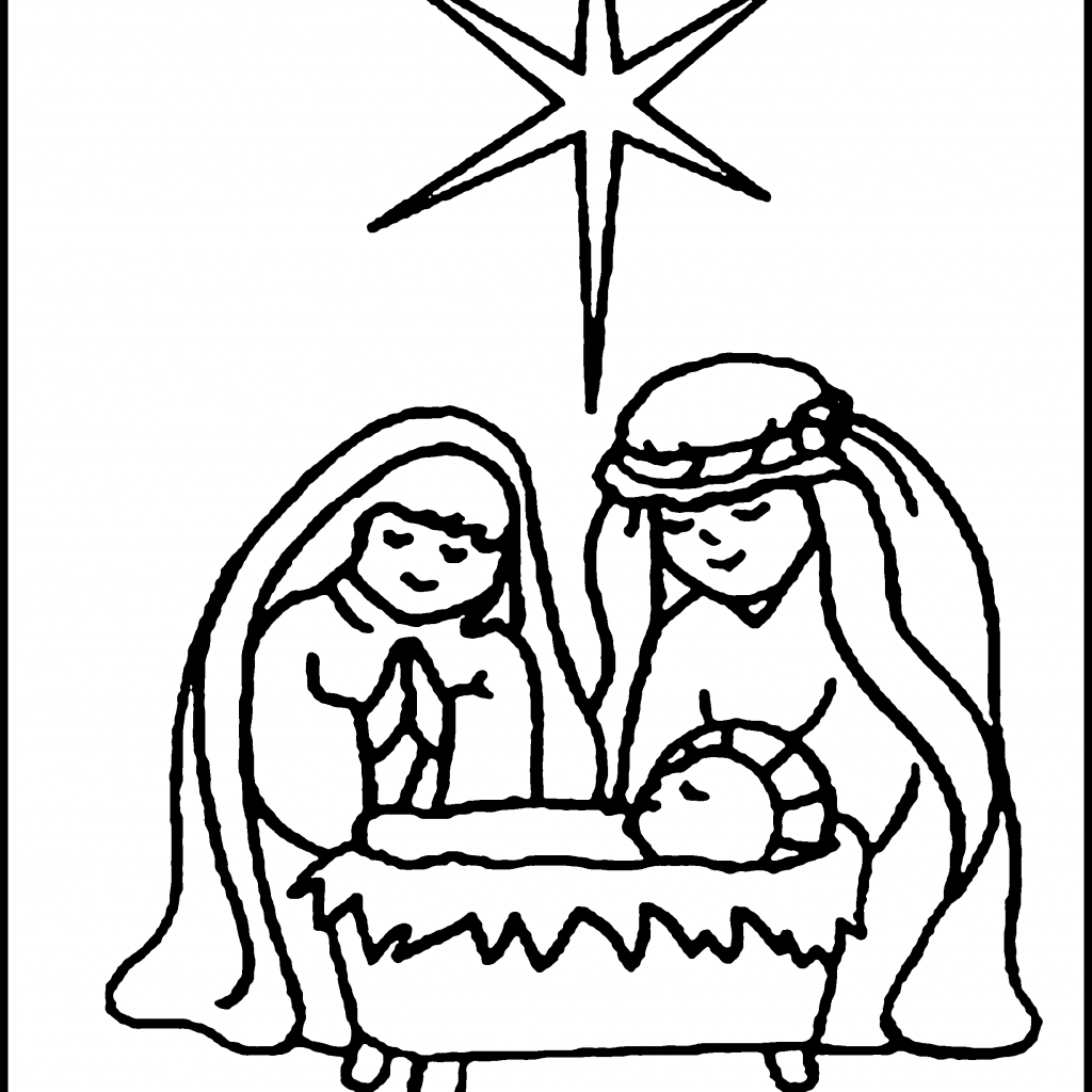 Christmas Nativity Coloring Pages Printable With Colossal Pictures To Color Baby Jesus 19926 Unknown